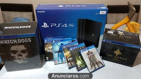 Sony PlayStation 4 Pro + 1TB + 2 controls + 4 games + PS Ca